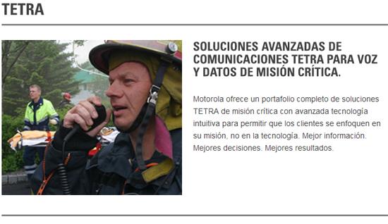Más de 2 millones de usuarios confían en las terminales TETRA de Motorola Solutions