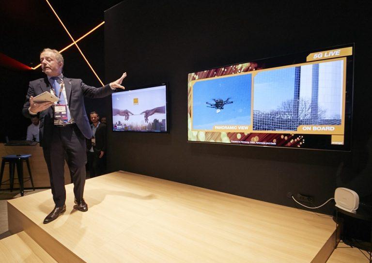 Samsung, Cisco y Orange unen fuerzas y desarrollan robot industrial y dron con tecnología 5G #MWC2019